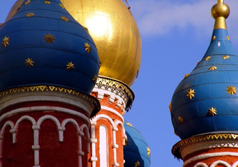 Printed kitchen splashbacks Moscow golden domes in old moscow