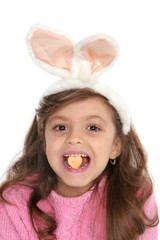 cute girl with bunny ears