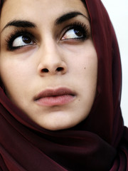 middle eastern woman in a scarf