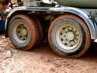 muddy wheels