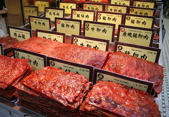 Tuinposter Grill / Barbecue chinese preserved meat