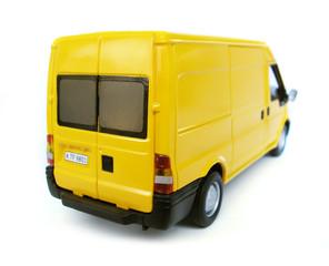 yellow model car - van. toy