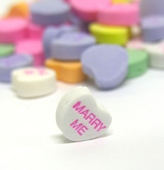 marry me candy heart