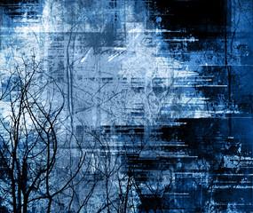 detailed midnight grunge frame