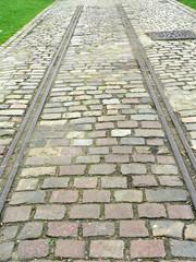 rails,pavés,verticale
