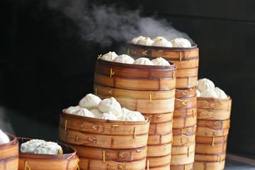 steaming dumplings