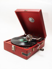 isolated retro record player