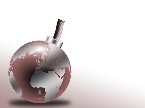glass globe bomb