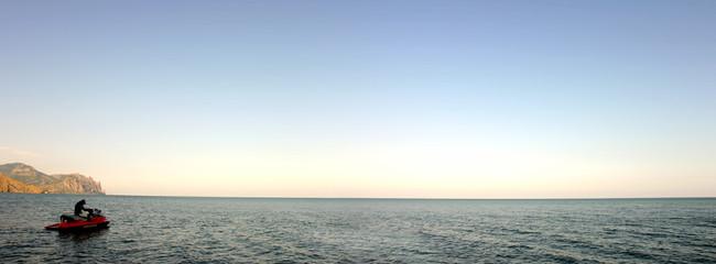 panoramique d'ukraine avec jetski