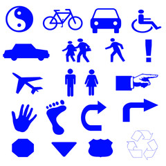 people and transportation icons