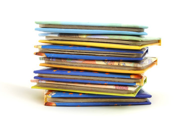 stack of story book