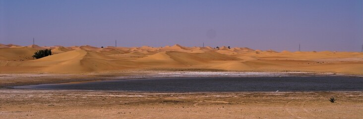 water in the desert of sweihan