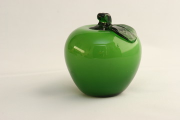 glass fruit - green apple