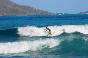 surfeur aux iles vierges