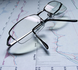 reading glasses and graphs