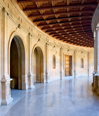ancient arena in the alhambra palace in spain