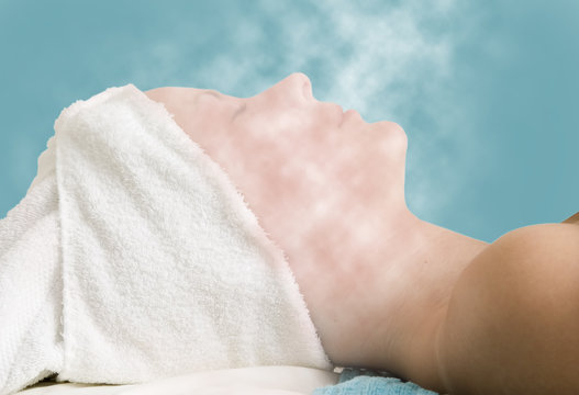 facial steam treatment