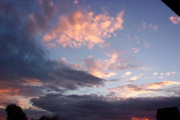 nuages au couché de soleil
