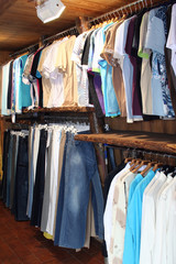 clothes in shop