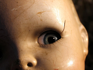 antique doll close up