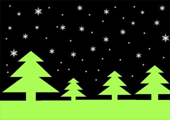 christmas trees and snow flakes back ground!