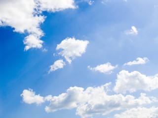 clouds in the dark blue sky