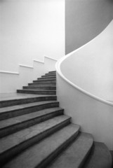 Photo on textile frame Stairs escalier noir et blanc