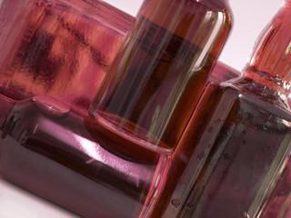 glass bottles red