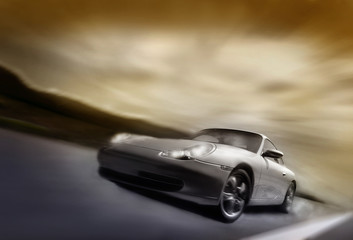 sportcar on the move