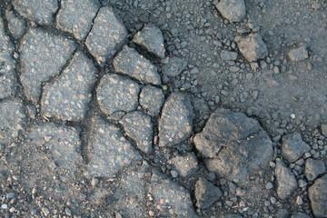 cracks in asphault