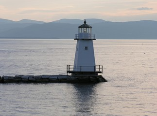 lighthouse in late afternoon.