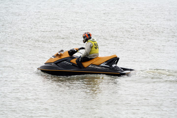 Autocollant pour porte Nautique motorise jet-ski