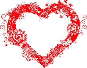 grunge valentine frame