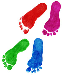 print of foots of the child