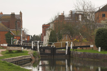 photographing canal locks