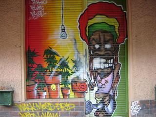 Foto op Aluminium graffiti reggae man