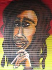 graffiti jamaika man detail