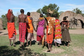 tribu samburu au village