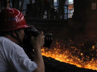 photographer under fire