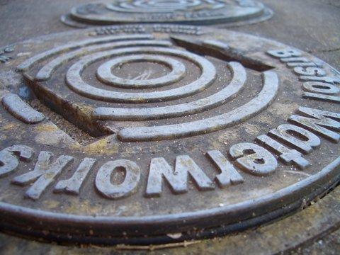 waterworks metal cap, close-up