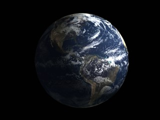 realistic 3d earth