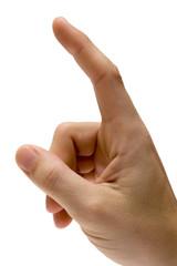 gestures – pointing upward w/ path