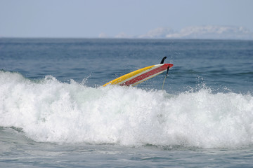 surfboard wipeout