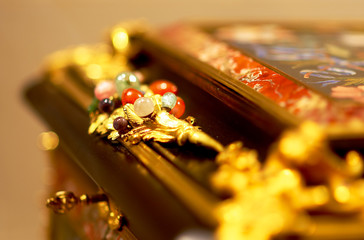gems on a jewelry box