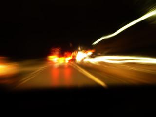 motorway driving at night