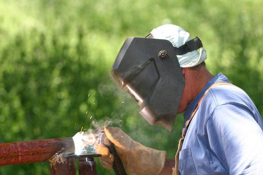 welding away