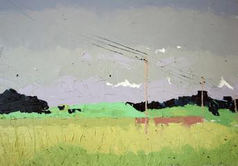 yellow fields landscape