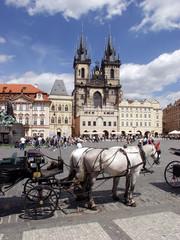 Poster Prague staromestske square in prague