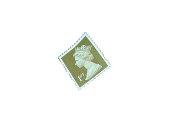 isolated stamp