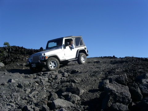 travelling on a volcano road